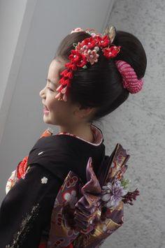 かわいい日本髪が人気です♪7歳さんの七五三は、ちょっぴり大人っぽく!仙台七五三日本髪スタジオズイム仙台フォトスタジオ仙台写真スタジオ仙台写真館