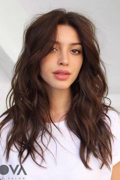24 Flawless haircut ideas to beautify all face shapes – Hair … 24 Makellose Haarschnitt-Ideen zur Verschönerung aller Gesichtsformen – Hair and MakeUp – # - Unique Long Hairstyles Ideas Medium Hair Styles, Curly Hair Styles, Medium Wavy Hair, Layered Long Hair, Medium Length Hair With Layers, Layers For Long Hair, Long Textured Hair, Medium Brunette Hair, Long Hair Layer Cut