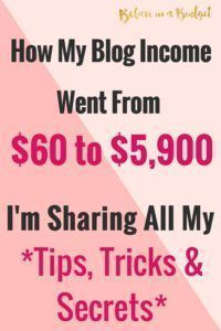 Here's my online income report for my blog. Learn how I increased my blog income from $60 to $5,900!