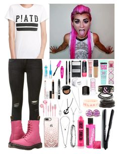 """""""HeyThereImShannon ~5~"""" by i-am-the-one-and-only ❤ liked on Polyvore featuring rag & bone, Dr. Martens, NYX, Lord & Taylor, Essence, Maybelline, L'Oréal Paris, Benefit, Smashbox and Rimmel"""