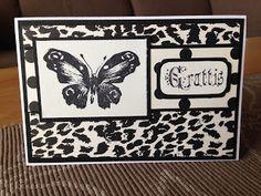 Randis hobbyverden: Grattis (birthday) i svart/hvitt