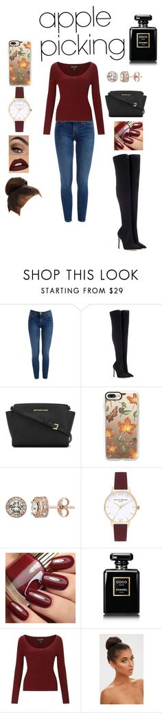 """Apple Picking"" by fashionistagirl989898 ❤ liked on Polyvore featuring Gianvito Rossi, MICHAEL Michael Kors, Casetify, Diamond Splendor, Topshop, Chanel and Miss Selfridge"