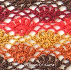 ColoridoEcletico: Pontos de Crochê - #02 - Gráfico e combinação de cores