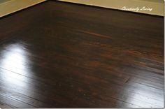 Wood Floors 50% Jacobean 50% Ebony