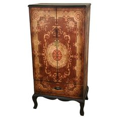 Oriental Furniture Adrienne Cabinet