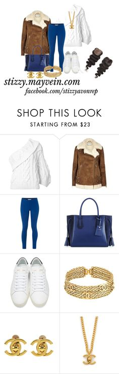 """Mayvein Hair"" by stizzy ❤ liked on Polyvore featuring Rosie Assoulin, River Island, White Stuff, Longchamp, Yves Saint Laurent and Chanel"