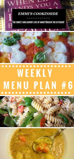 Weekly meal plan #6! Easy and frugal ideas for the family! Check all my inspirations for a weekly mealplan! It helps you to stay on your budget! Easy and delicious recipes for every day!