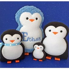 In The Hoop :: Softie Toys :: Penguin Softies - Embroidery Garden In the Hoop Machine Embroidery Designs