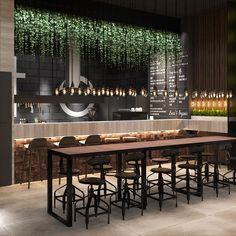 Bistro Interior, Coffee Shop Interior Design, Office Interior Design, Cafe Design, Rustic Design, Cafe Restaurant, Restaurant Design, Rooftop Terrace Design, Table D Hote