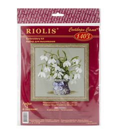 Riolis 8''x8'' Counted Cross Stitch Kit-Snowdrops