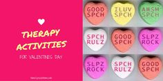 Home Speech Home: Kiss Me! Speech Therapy Activities for Valentine's Day. Pinned by SOS Inc. Resources. Follow all our boards at pinterest.com/sostherapy/ for therapy resources.