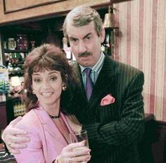 Marlene [a right bobby dazzler] and Boycie British Tv Comedies, Classic Comedies, British Comedy, Are You Being Served, Only Fools And Horses, British Humor, Comedy Tv, How To Be Likeable, Great Films