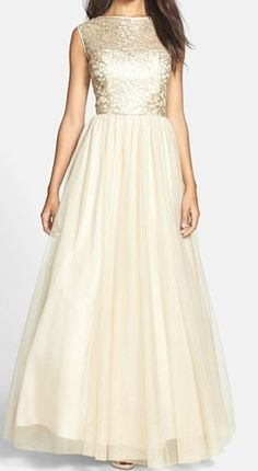 This tulle ballgown would make a beautiful wedding dress!