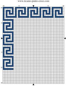 Brilliant Cross Stitch Embroidery Tips Ideas. Mesmerizing Cross Stitch Embroidery Tips Ideas. Cross Stitch Borders, Cross Stitch Designs, Cross Stitching, Cross Stitch Embroidery, Embroidery Patterns, Cross Stitch Patterns, Mosaic Patterns, Loom Patterns, Greek Pattern
