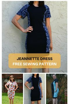 Free Sewing Pattern: The Jeannette Dress. Learn how to make a unique and trendy dress with a step by step sewing tutorials