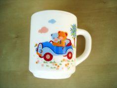 Fun Vintage Mug For Kids Arcopal coffee tea by PrettyTurkishThings, $12.50