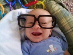 Aww so cute! He looks like a Steve Urkel wanna be!