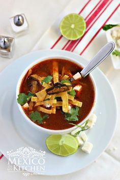 Tortilla soup authentic recipe #recipe #mexican #food #kitchen #soup #tortillas