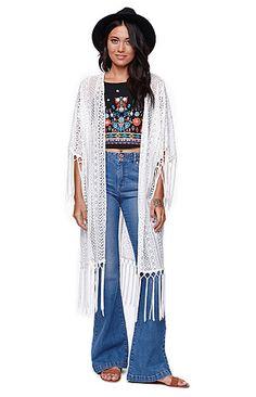 Kendall & Kylie Fringe Kimono #pacsun