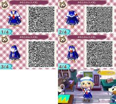 ANIMAL CROSSING NEW LEAF Monster Hunter QR CODE. ACNL. PINNED BY Stephy Sama