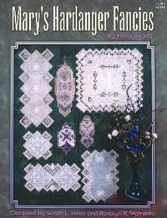 SALE - only: $3.99!  Mary Swartz has been a winner in 11 of Nordic Needles annual Hardanger embroidery design contests.  This exciting book features eight new original designs by Mary, including three unique and colorful pieces with many specialty stitches.  Most pieces are for the intermediate or experienced Hardanger stitcher.  Large graphs and close-up photos included for each design.  This item is nonreturnable without customer service approval.