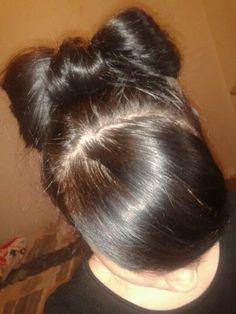 Noeud papillion que j ai fais avec mes cheveux