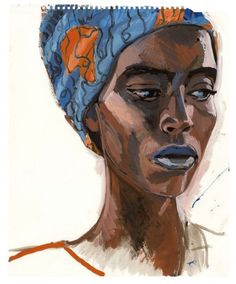 Women of the world – Return to Timbuktu Acrylic Portrait Painting, Painting & Drawing, Illustrations, Illustration Art, L'art Du Portrait, Charcoal Sketch, Art Premier, Edgar Degas, Gustav Klimt
