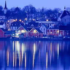 Lunenburg, Nova Scotia.  A UNESCO World Heritage Site is the home port of Nova Scotia's sailing ambassador, the Bluenose II.