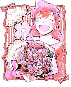 Ce style de dessin conviens bien mieux à Crimson prince mais bon, c'est pas mal. Ayumi aurai mieux correspondue.