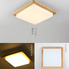 Modern LED Ceiling Lights Wood Lighting Plafoniere Kids Modern Ceiling Lamps Lampara de Techo Luminaria Square Lighting Fixture-in Ceiling Lights from Lights & Lighting on Aliexpress.com | Alibaba Group