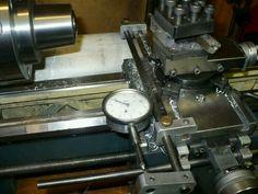 Cross slide dial gauge holder