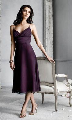 Amazing Chiffon A-line V-Neck Tea-Length Bridesmaid Dresses - formalsydney.com