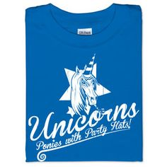 ThinkGeek :: Unicorns: Ponies With Party Hats