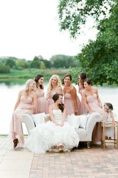 Such a beautiful color!!! Photography: Tamara Gruner Photography  Bridesmaids' Dresess: Jenny Yoo