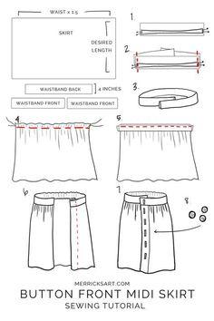 Skirt Patterns Sewing, Clothing Patterns, Skirt Sewing, Coat Patterns, Blouse Patterns, Womens Skirt Pattern, Girls Skirt Patterns, Skirt Pattern Free, Kimono Pattern