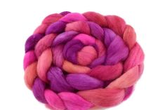Corriedale Wool Sliver/Roving/Top Hand Dyed Hot Pink Orange Mix 12410 Nuno Felting, Needle Felting, Wool Wash, Weaving Projects, Mulberry Silk, Merino Wool Blanket, Spinning, Hot Pink, Knit Crochet