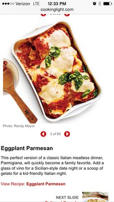 Eggplant Parmesan from cooking light