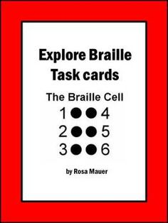 Students will learn and have fun exploring braille with these 30 task cards. The braille alphabet with matching print letters is provided. On each card, there is a braille symbol for students to decode. A response sheet and answer key are included. Braille Alphabet, Free Poems, Print Letters, Teaching Career, Kids Learning Activities, Task Cards, Disability, Lesson Plans, Study