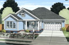Traditional Style House Plan - 3 Beds 2 Baths 1679 Sq/Ft Plan #513-2080 Exterior - Front Elevation - Houseplans.com