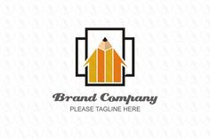 Pencil Square - $301 (negotiable) http://www.stronglogos.com/product/pencil-square #logo #design #sale #pencil #paper #arrow #writing #club #advertising #media #blog