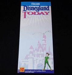 1996 DISNEYLAND INFORMATION Flyer / Map (Italian Language Version) #Disney