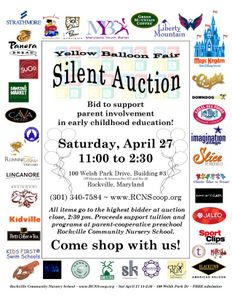 Silent Auction Flyer Examples Dolap Magnetband Co