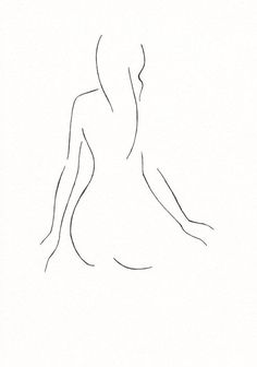 Black and white minimalist line drawing by siret - Dunway Enterprises Minimalist Drawing, Minimalist Art, Drawing Sketches, Art Drawings, Arte Pop, Wire Art, Simple Art, Figure Drawing, Art Inspo