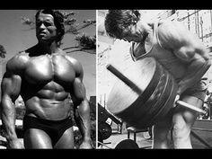 ILYKS.COM - Split picture of Arnold Schwarzenegger on the left with a dark tan just standing in the sun and on the right half of the split Arnold Schwarzenegger is do