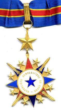 Democratic Republic Order of Merit Commander with full neck riband in card...