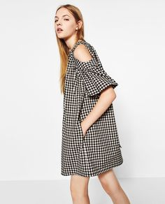 FULL GINGHAM CHECK DRESS-NEW IN-TRF | ZARA United States