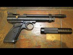 Crosman 2240 Air Pistol indoor Suppressor Test - http://fotar15.com/crosman-2240-air-pistol-indoor-suppressor-test/
