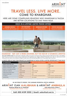 Check out our ad in The Times of India- Navi Mumbai Arihant Superstructures Travel Less. Live More. Come to Kharghar. Once-In-A_Lifetime Limited Period Offers* https://www.asl.net.in/ #ArihantSuperstructures #ArihantAalishan #ArihantAnshula #Kharghar #RealEstate #NaviMumbai #Property #Homes #TOI #Media #Newspaper