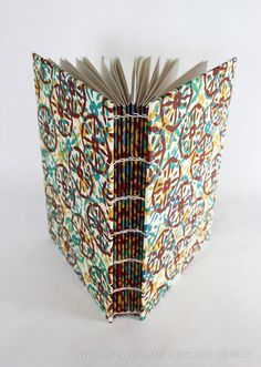 Handmade Book, Hand Printed Fabric