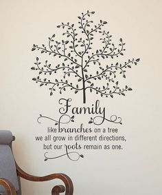 Family: like branches on a tree, we all grow in different directions, but our roots remain as one.  (Not this tree though.  One with spots for photos.)